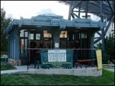The Roosevelt Island Historical Society Trolly Station kiosk